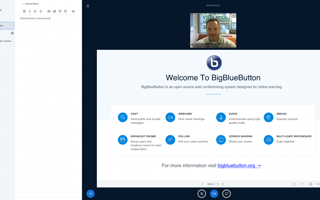 HTML5 Web Conferencing with BigBlueButton